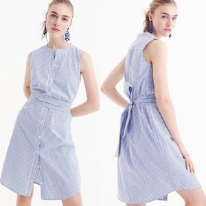 J. Crew Collection Sleeveless Striped Shirtdress